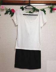 ピンキーアンドダイアン★白 Tシャツ ブラック スカート セット
