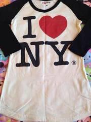 (^・_・)ILOVE NY*七分袖Tシャツ*Mサイズ*