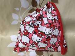 ハンドメイド/キティ&苺/コップ袋