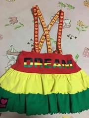 ☆美品ドリベビベビドDREAMBABY110cmラスタカラーサロペスカート