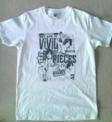 K未着用(新品⇒自宅で洗濯) 半袖Tシャツ『ViViD』白 Mサイズ