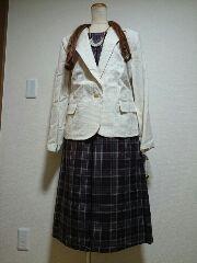 ★新品タグ34号★privatelabel★スーツ(ベルト付き)