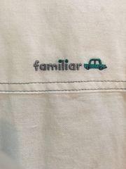 美品ファミリア ホワイトシャツ 110 背中ロゴ