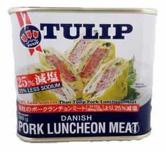 沖縄 TULIP 25% 減塩 ポークランチョンミート 300g N14M-9