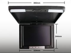首振り可能12.1インチ高画質フリップダウンモニター