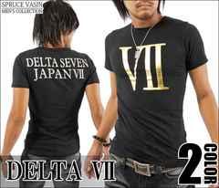 メール便送料無料【DELTA】Tシャツ70593新品黒金L