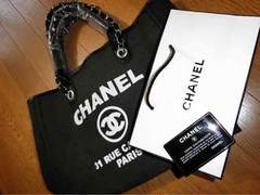 chanel.�g�[�g�o�b�O�E�V���l��.Black.novelty