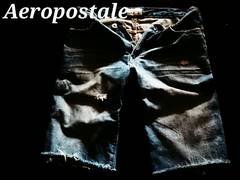 【Aeropostale】Vintage Destroyed デストロイデニムショーツ 36/M.Wash