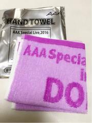 AAA★ -FANTASTIC OVER- ★ハンドタオル 【紫 宇野実彩子】