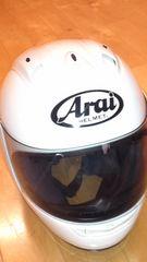 自動二輪車ヘルメット<Arai>RX-7ホワイト超美品レベル3万円