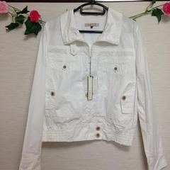 定価10290円◆Swirl◆ホワイト 白 コットン サファリ ジャケット