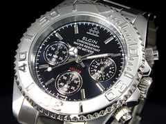 送料無料!エルジン ELGIN クロノグラフ 腕時計 FK1120S-BN