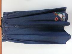 チチカカ マキシデニムスカート 刺繍 M