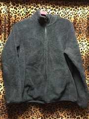 [USED]フリース.もこもこ.羽織物.冬.UNIQLO.ユニクロ.XL.黒