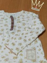 キムラタン★Biquette 110�p♪花柄長袖Tシャツ