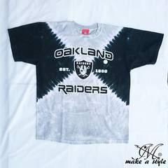 NFL レイダース RAIDERS タイダイ染 TEE 半袖Tシャツ 175L B系