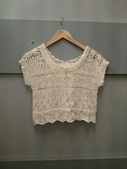LIZ LISA☆かぎ編み半袖ニット