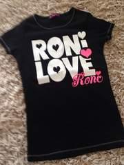 RONI・デカロゴ半袖Tシャツ・黒M
