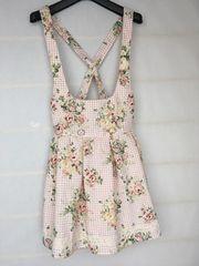 N2m しまむらコラボ リズメロ M ジャンバースカート バラ柄