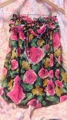 ゴールズインフィニィティ〓花柄裾バルーンベアトップ