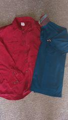 L 長袖カッター 半袖ポロシャツ 2点セット