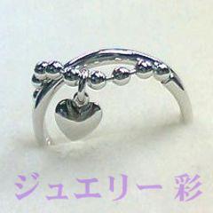 恋する乙女☆ハートラブラブシルバー925リング☆ハートチャーム 7号 送料無料