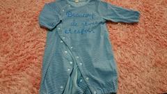 子供服ベビー服/ブルーボーダー2way/70サイズ/長袖