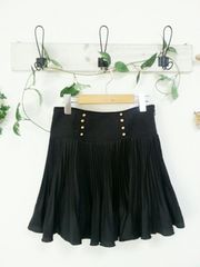 OZOC☆黒×プリーツフレア ミニスカート♪