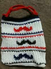 手編みのミニミニバッグ、ひげ