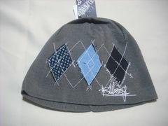 mb428 男 BILLABONG ビラボン ニット帽 ビーニー グレー