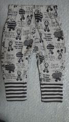ミッキーマウス 裏起毛ズボン 90�p