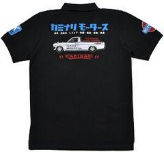 新作/カミナリ雷/ポロシャツ/サニトラ/黒/XL/KMPS-200/エフ商会/テッドマン