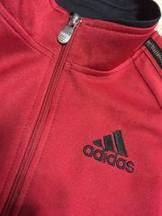 adidas★ジャージ刺繍120スェットアディダス赤色