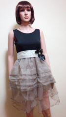 美品キャバ…パールリボン&フリ�Aパニエのドレス☆3点で即落☆