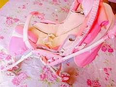 送込み姫ママ♪アップリカ ピンクのベビーカー