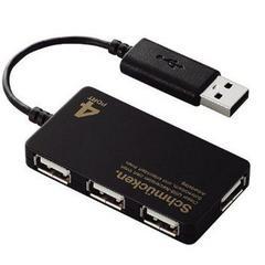 ☆ELECOM USBハブ スリム バスパワー 4ポート ブラック
