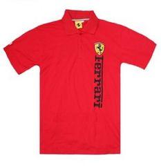 限定送料込み フェラーリ 赤ポロシャツM f184