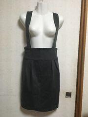 INDEX2wayタックジャンパースカートMモスグリーンタイトスカート