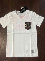 チャビーギャング★スタッズポケットロックVネックTシャツ★150