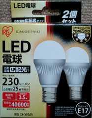 LED�d�� E17 ���` �L�z�� 25w �d���F LDA4L-G-E17-V1 2�ƒp�b�N