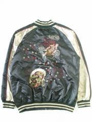 風神雷神刺繍スカジャン 4Lサイズ ブラック【新品タグ付き】