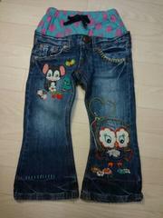 ●グラグラ● アニマル刺繍ジーンズ 4(100-105)