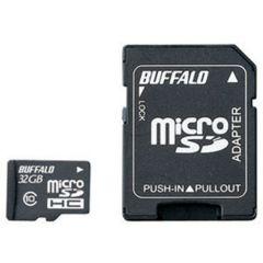 �o�b�t�@���[Class10 microSDHC�J�[�h SD�ϊ��A�_�v�^�[�t 32GB