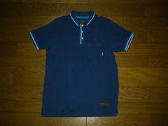 NEIGHBORHOODネイバーフッドラインポロシャツM紺系ロゴ刺繍11