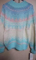 新品 素敵なセーター M  ブルー系