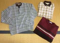 美品 まとめ売り メンズ セーター シャツ ニット M ブランド