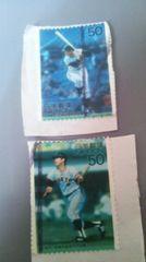【使用済み】記念切手 ON時代・長嶋茂雄 ON時代・王貞治計2枚 1スタ
