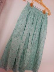 ◆ロングスカート◆可愛いラビットチェリー柄ハンドメイド/新品