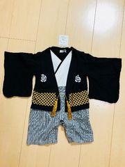 ◆ 超美品 ◆ ベビー 袴  黒70cm 端午の節句  baby 和装