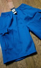 PRO5スウェットカーゴハーフパンツ 青ロイヤルブルー サイズ2XLXXL ウエスト100〜110cm